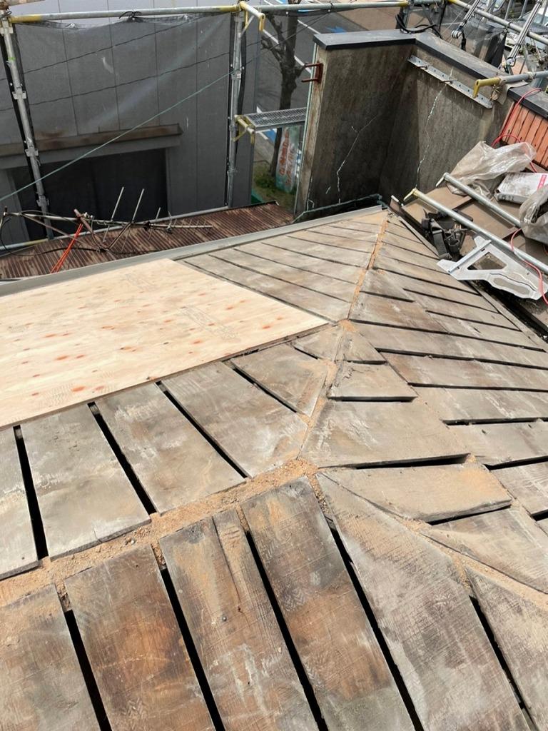 戸畑区店舗様 屋根葺き替え