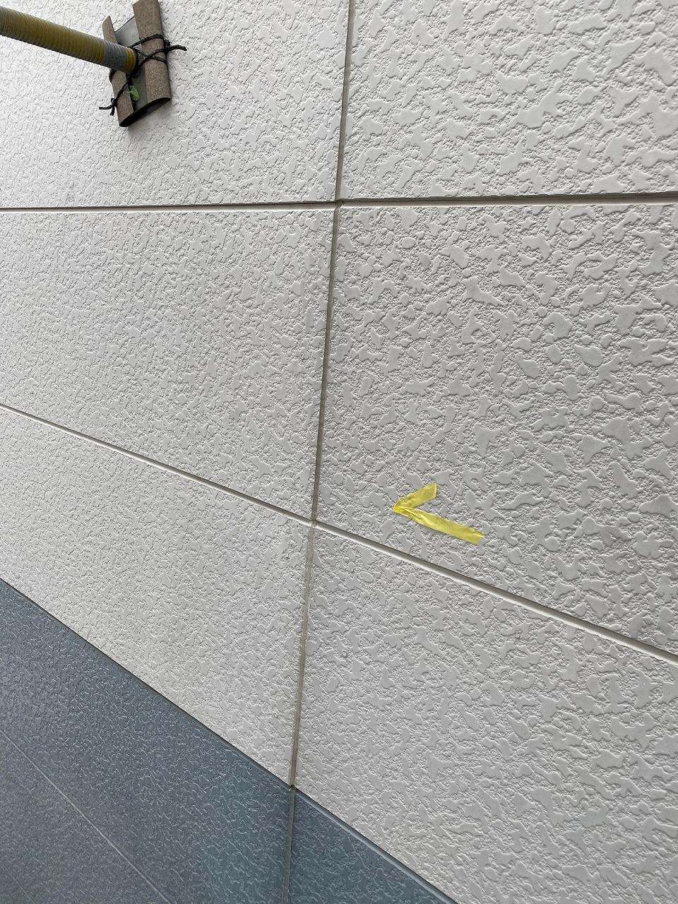 福岡市西区のアパートで外壁コーキン打ち替え