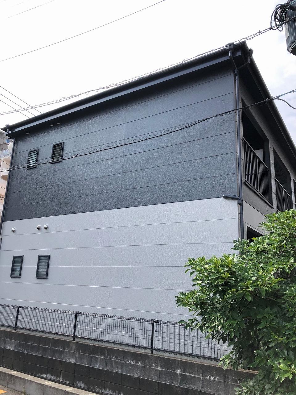 ピュアドーム館姪浜シート_20210629_0001_外壁_施工完了
