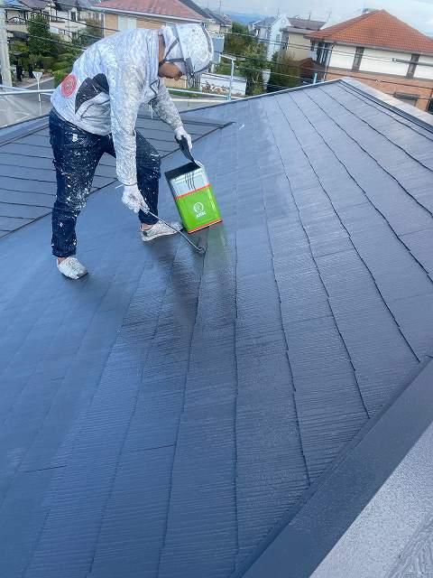 筑紫野市戸建て住宅 屋根塗り替えの様子をご紹介♪