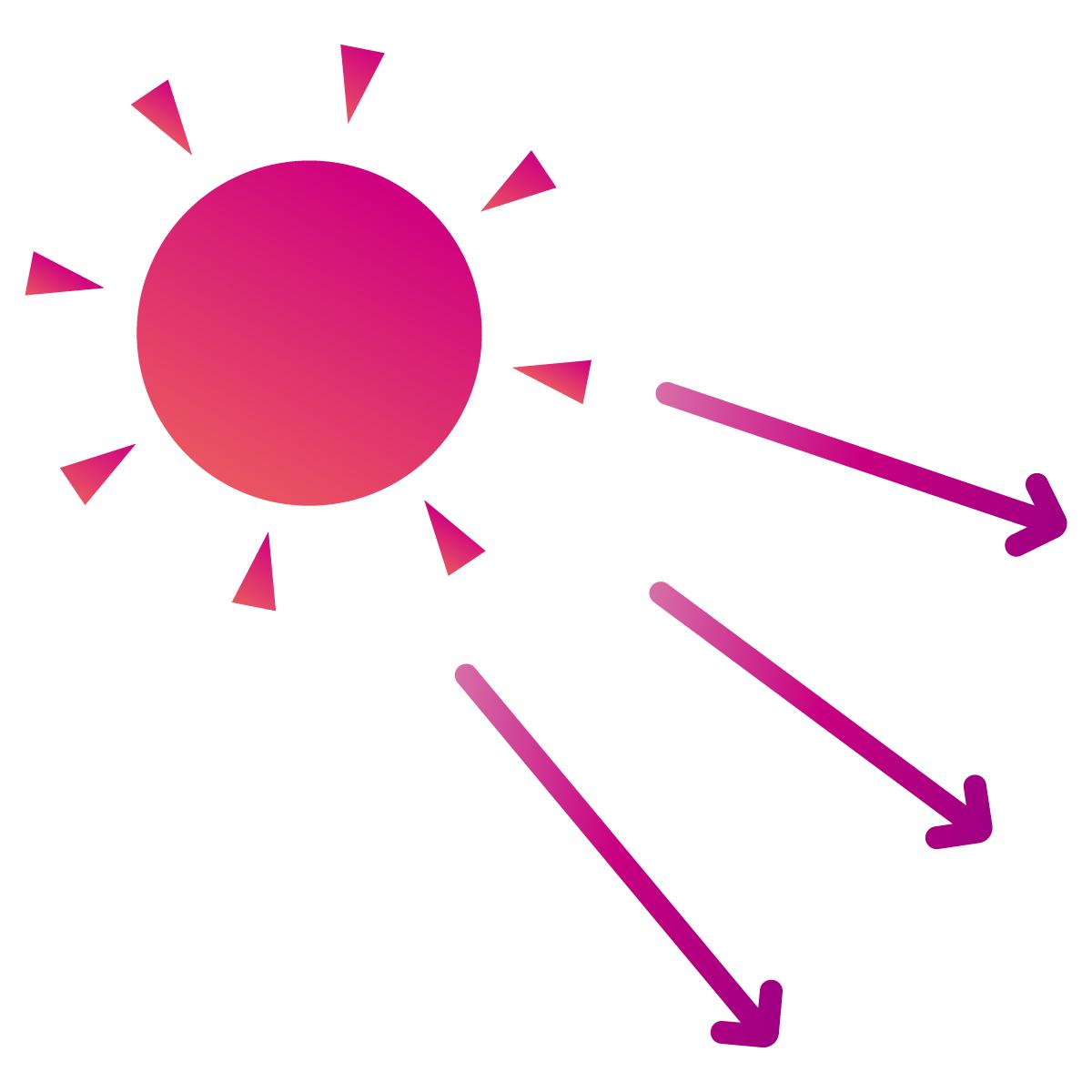 紫外線が降り注ぐ