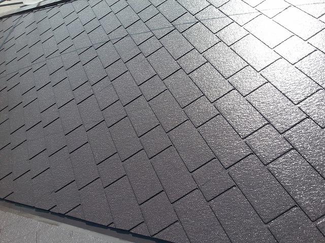 屋根塗装施工後の写真
