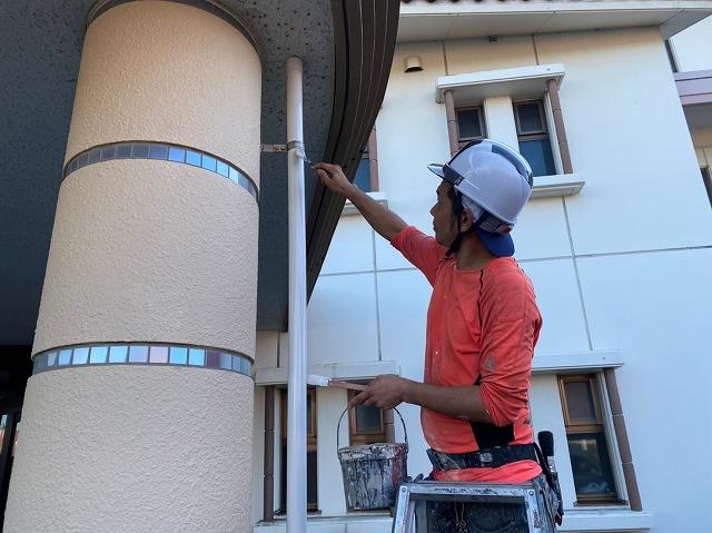 若松区施設雨樋塗装