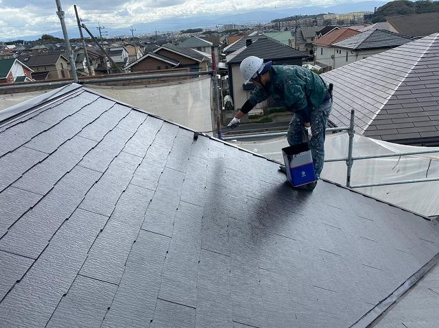 K様邸屋根上塗り2