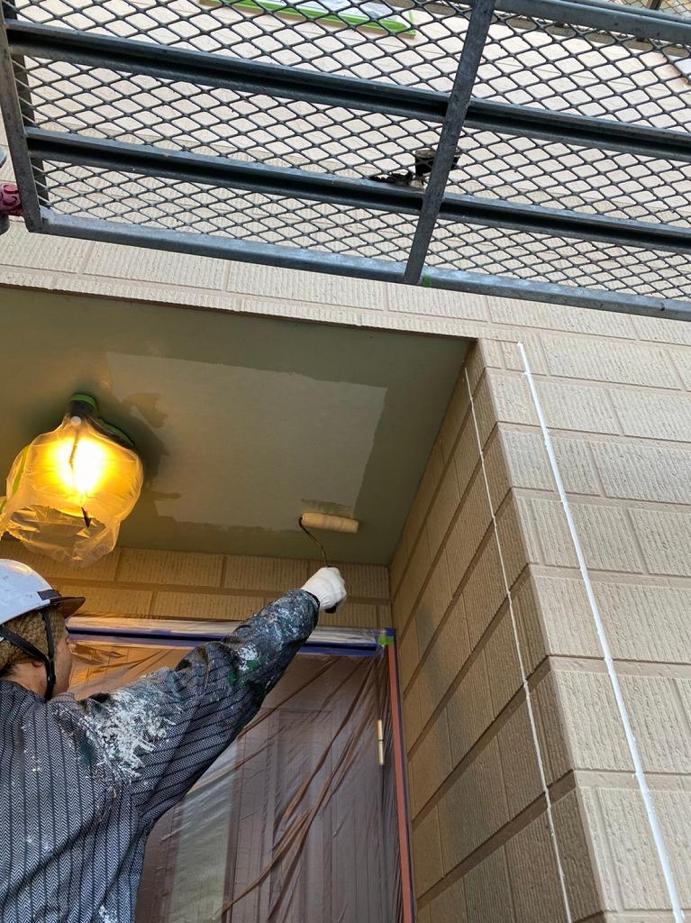 福岡市東区一軒家の軒天井・鼻隠しの塗装を行いました!