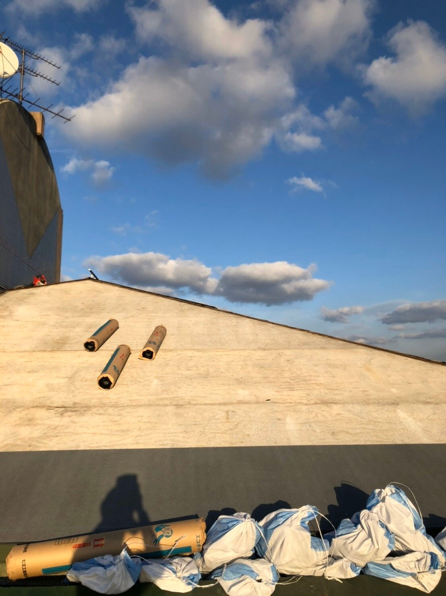 防水シートの設置1
