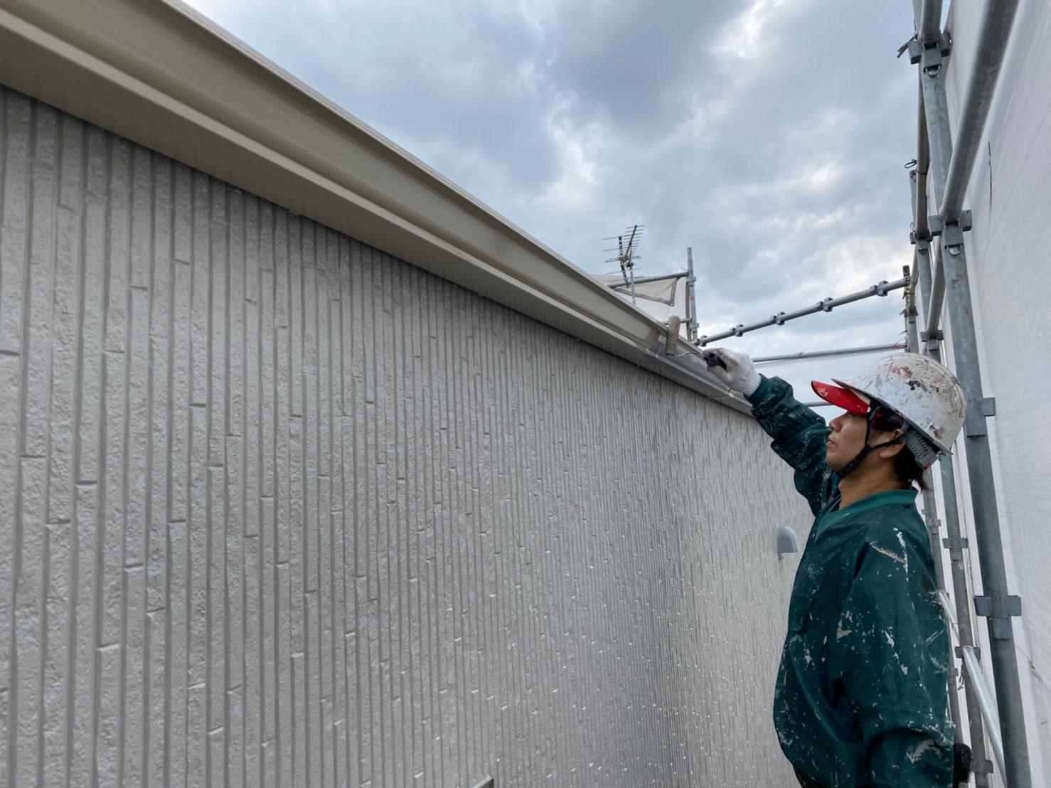 W邸雨樋塗装