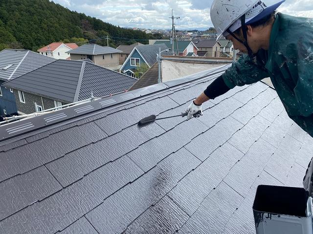 K様邸屋根上塗り1